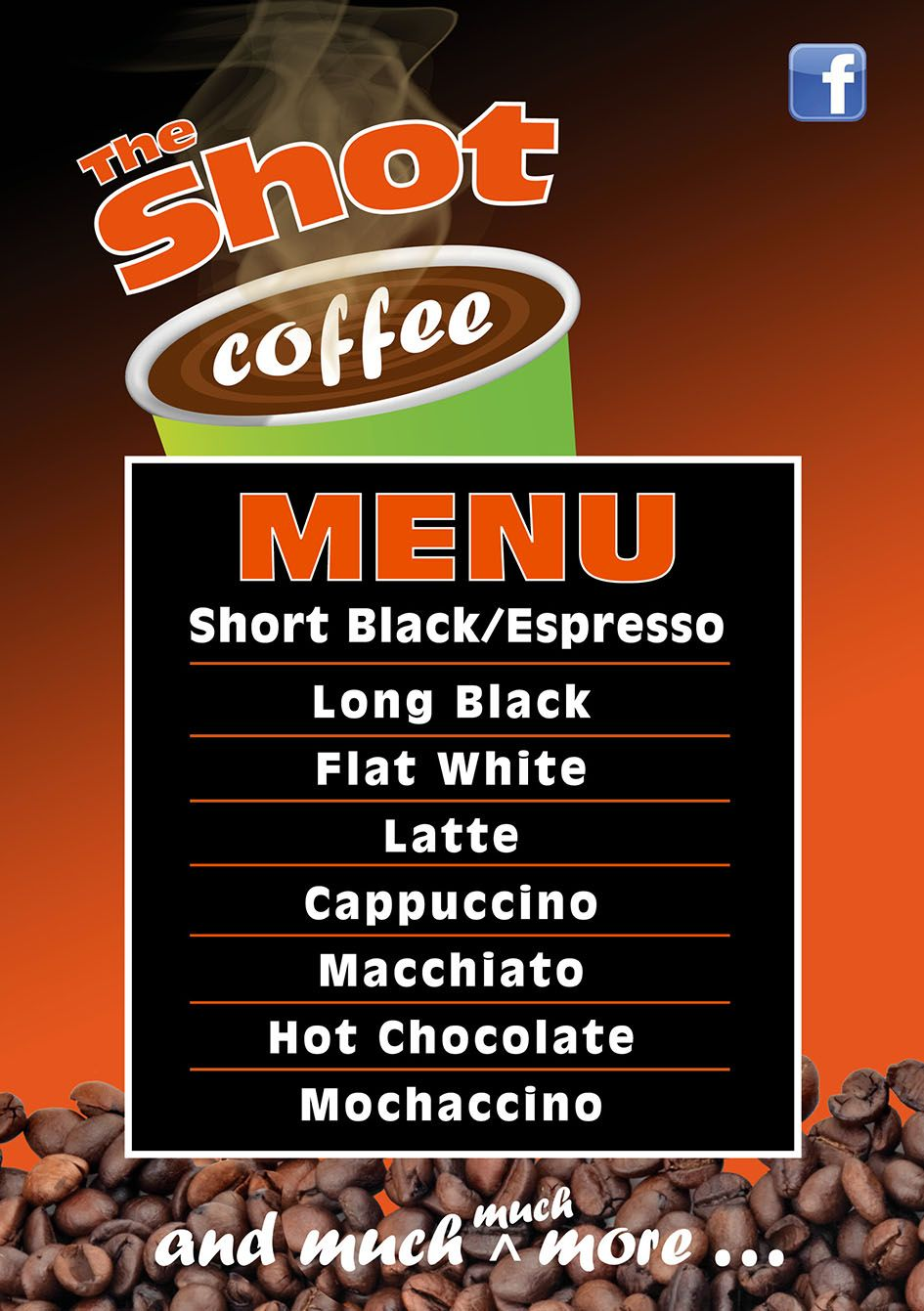mobile coffee menu